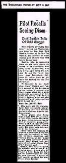 Pilot Recalls The Oregonian 7-3-1947