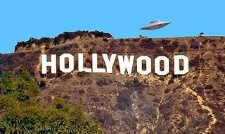 Saucer Over Hollywood Sign