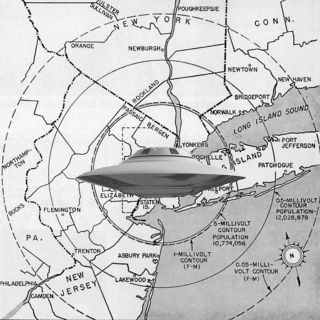 Saucer Over North Bergen Map