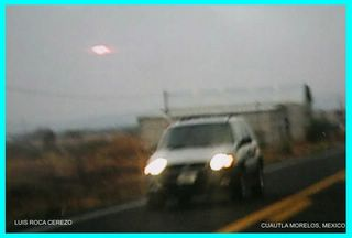 UFO Over Cuautla 1 Framed