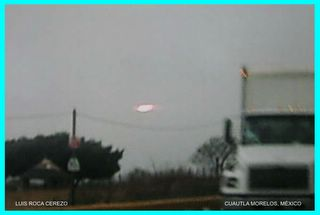 UFO Over Cuautla 2 Framed