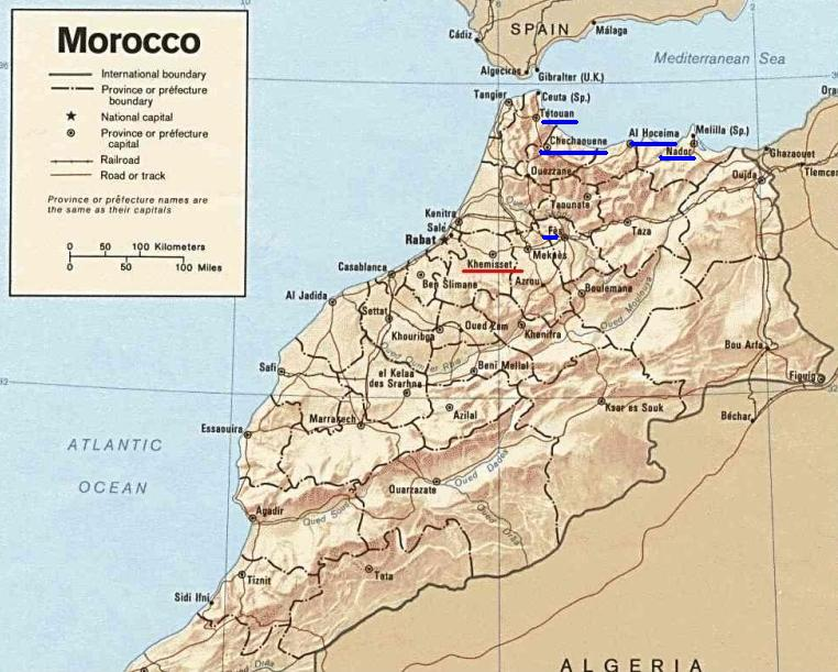 Rif Mountains Morocco Map Laugh Loud and Often