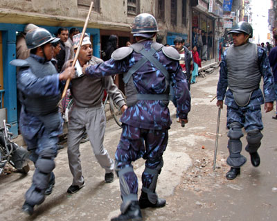 Democracy Takes A Beating in Nepal 19/02/2005