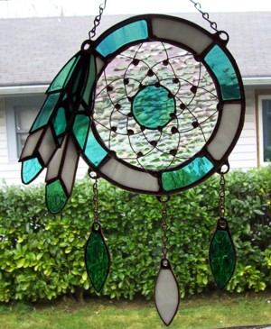 Sundream Collection Of Stained Glass Dreamcatchers June 2004