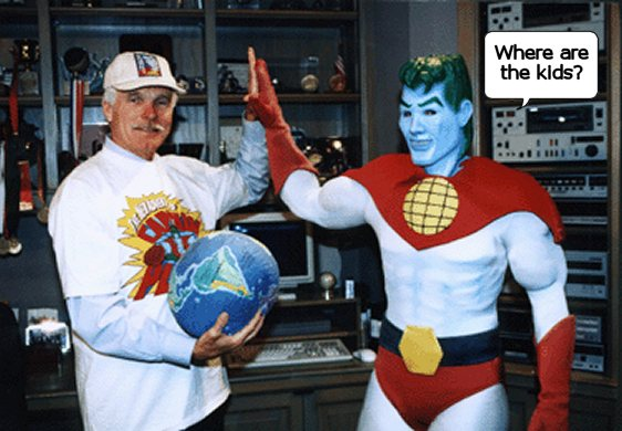 Ted Turner and Captain Planet