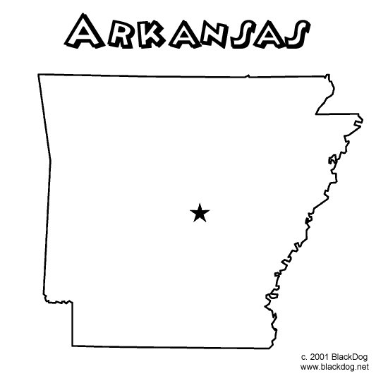 Arkansas state coloring pages coloring pages for Arkansas coloring pages