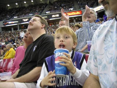 Kings versus Magic Basketball