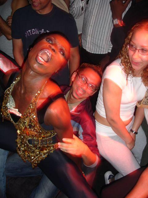 Ebony lap dancing