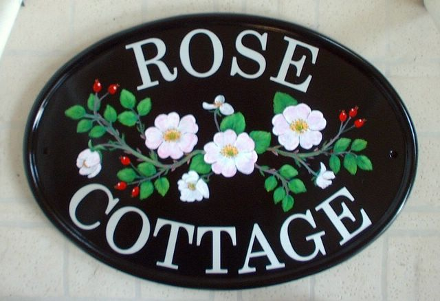 Hand Painted House Signs Uk