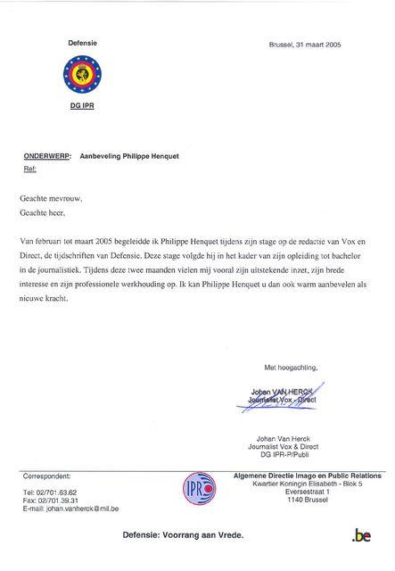 aanbevelingsbrief student Aanbevelingsbrief Student   hetmakershuis