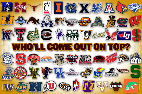 Logos These Are The Of Every Team From NCAA Basketball Tournament Image Has Been Reduced A Little More Original Take Look