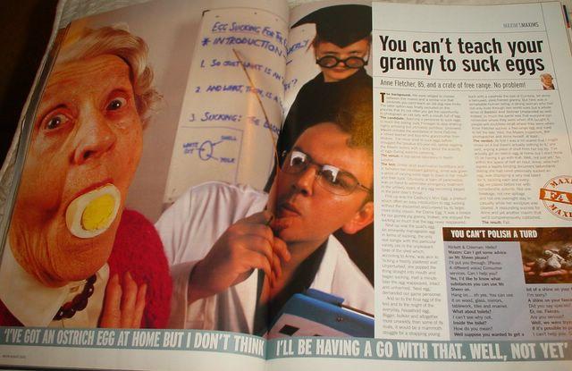 Theach grandma to suck eggs