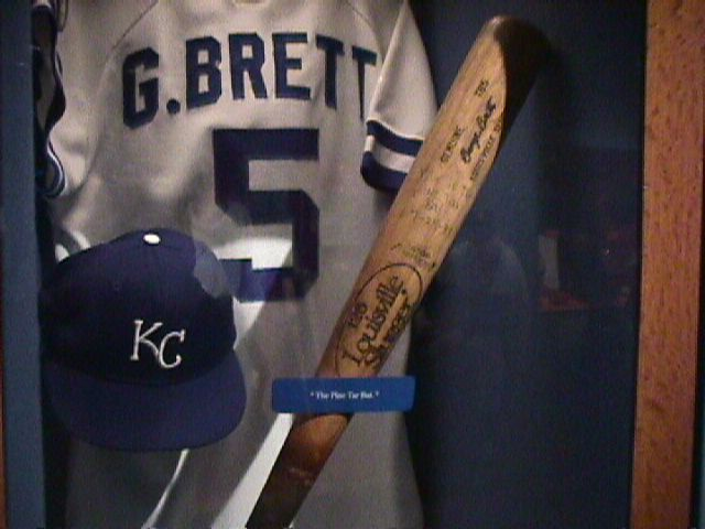 George Brett's bat from the Pine Tar Incident