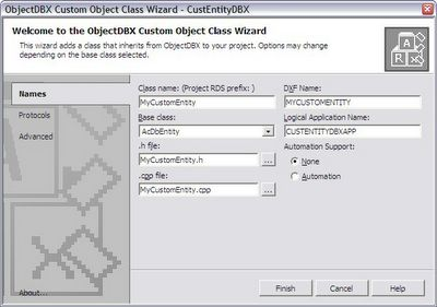 ObjectARX & Dummies: Class 14 - Creating a Custom Entity