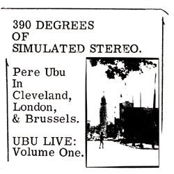 Vinyl Mine Pere Ubu 390 Degrees Of Simulated Stereo