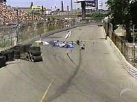 [Mario Dominguez slams into A. J. Allmendinger at the 2005 Molson Indy Toronto]