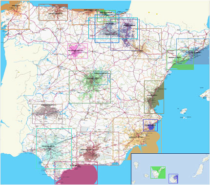 Mapa Cobertura Dab España.Mapa Cobertura Dab Espana Mapa