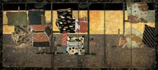 estampe japonaise montrant des manches de kimono