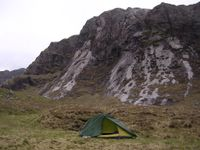 Cold and grey Sunday morning - camping by Fionn Loch