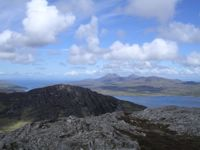 Looking north to Jura from Sgorr nam Faoileann on Islay