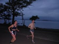 Kate and another runner at Loch Lomond