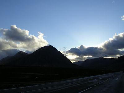 Looking back to Buachaille Etive Mor