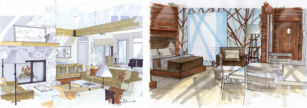 Retired SketchUp Blog: Using SketchUp to create hand renderings