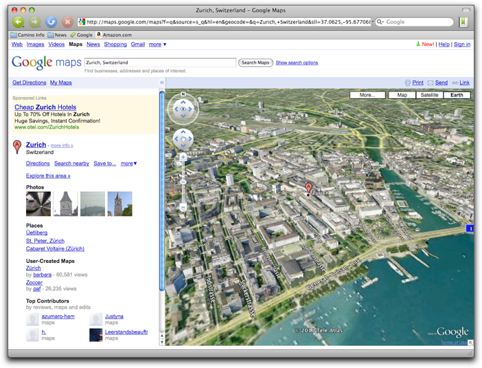 Retired SketchUp Blog: Earth view in Google Maps widens