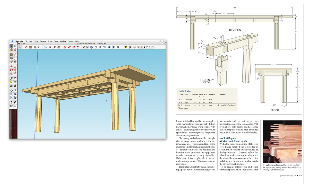 Case Study Popular Woodworking Magazine Sketchup Blog