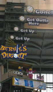miller park bernie and slider snow april 2007 indians vs angels - soul amp