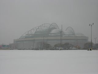miller park snow april 2007 indians angels - soul amp