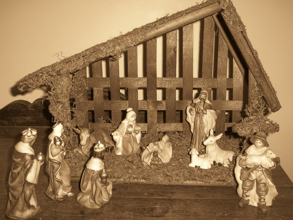 Christmas Stable Background.My Messy Thrilling Life Stable Background