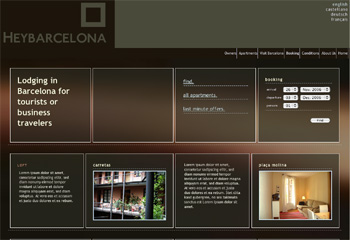 HeyBarcelona Rental Apartments Website © Delfi Ramirez @Segonquart Studio 2006