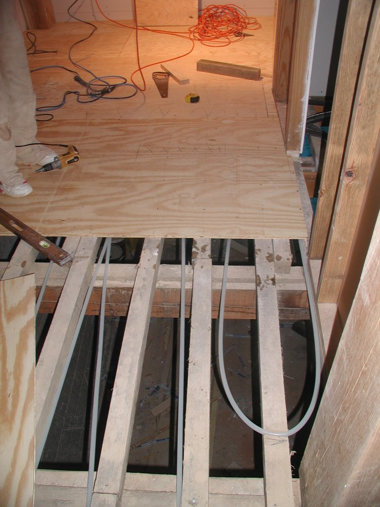 Building A Timberframe Home From Scratch Radiant Tubing