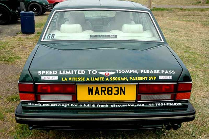 Bentley turbo r bumper sticker
