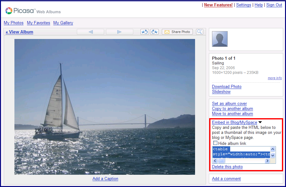 inside adsense embed a photo gallery with picasa web albums