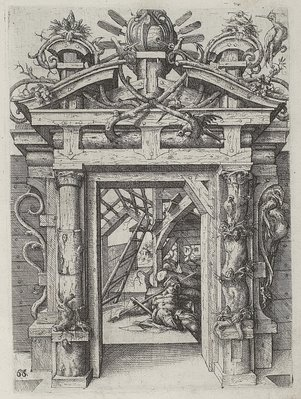 engraving from 1598 - architecture