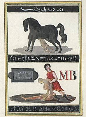 Horse with Corpse; Person and Corpse
