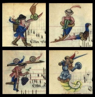 Human Lettrines and whimsical figures in the Copenhagen Chansonnier