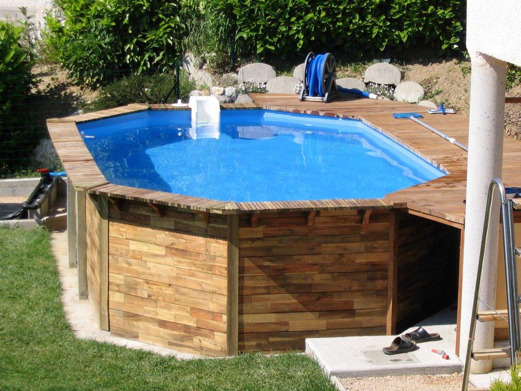 Maison for Maison bois avec piscine
