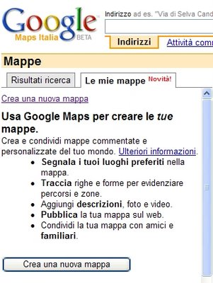 crea mappa con Google Maps Italia
