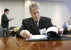 Nifong reads additional complaints brought against him at The North Carolina State Bar