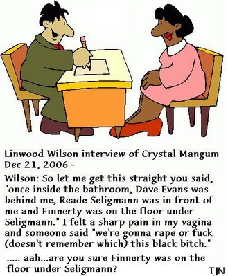 Linwood Wilson interview of Crystal Gail Mangum, Dec. 21, 2006