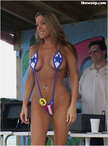 Miss bikini contest on the beach