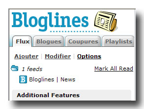 Flux RSS de Bloglines