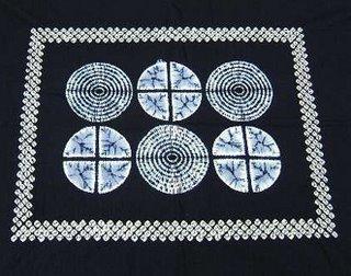Classic Shibori Design Tablecloth