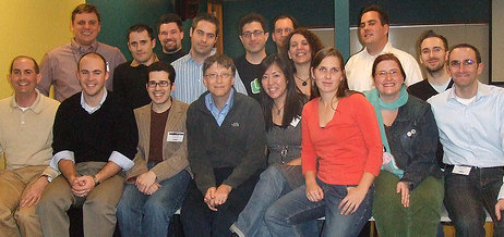 Bill Gates with Bloggers