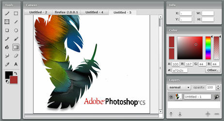 Adobe Photoshop on the Web
