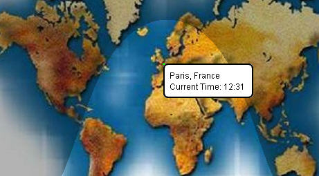 World time clocks visual guide to time around the world qlock displays the world time inside a google map that you can drag zoom inout or even switch to a satellite view that said the most useful part is the gumiabroncs Choice Image