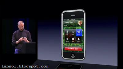 Steve Jobs talking with Jonathan Ive on iPhone